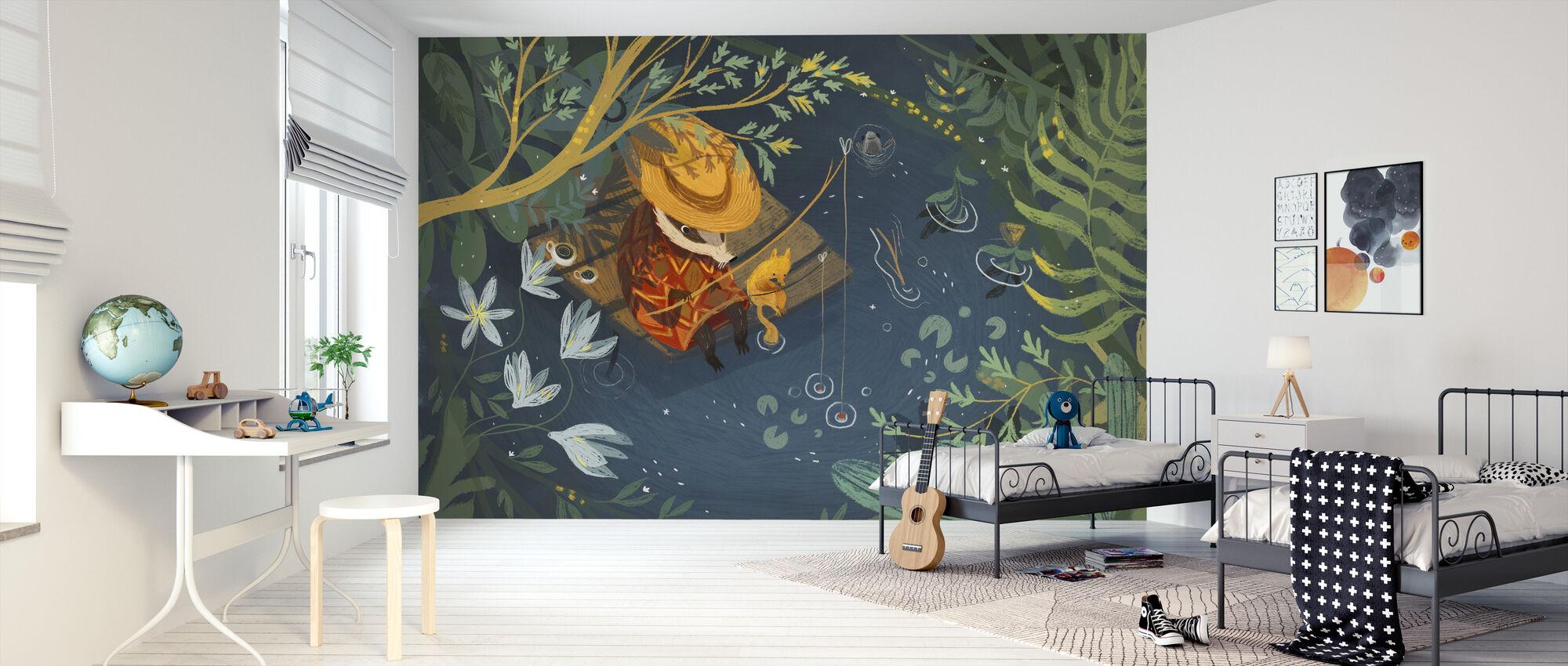 Summer Fishing - Wallpaper - Kids Room