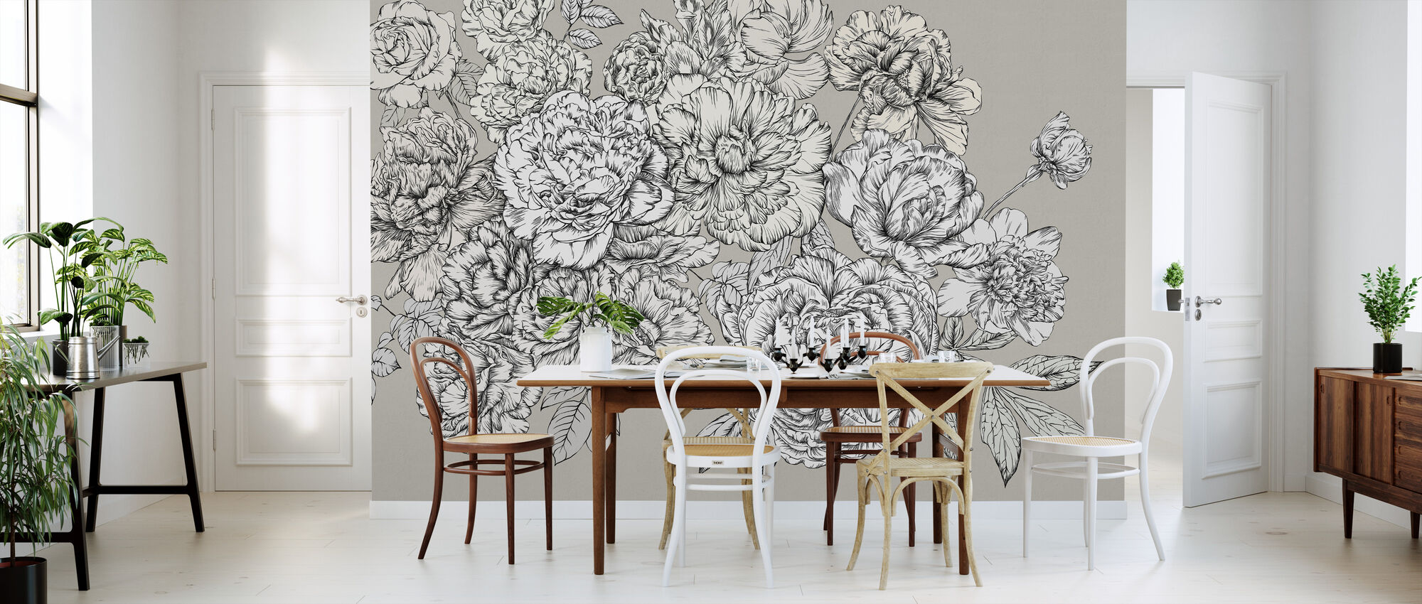 Blossom Outline - Requisite - Wallpaper - Kitchen