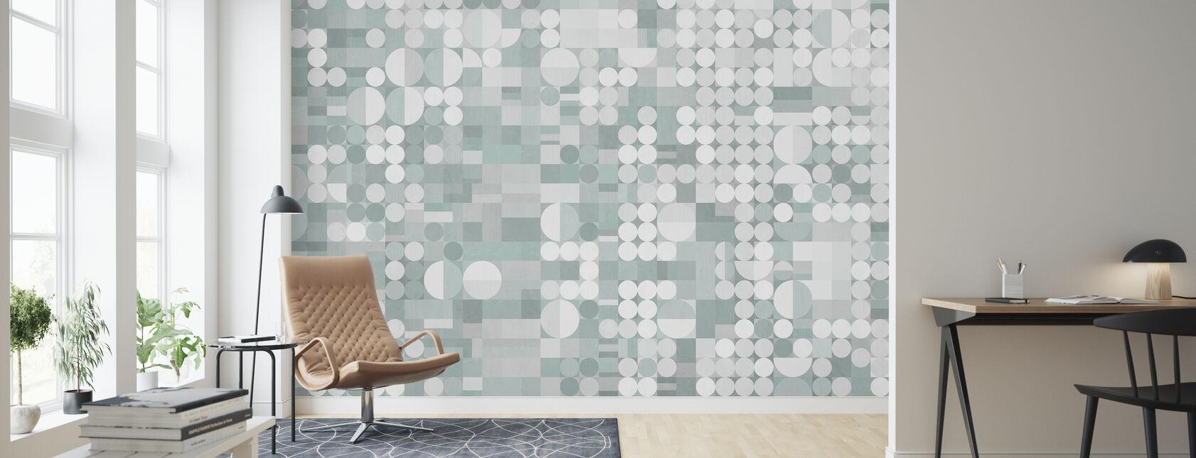 Circles and Blocks Deco III - Wallpaper - Living Room
