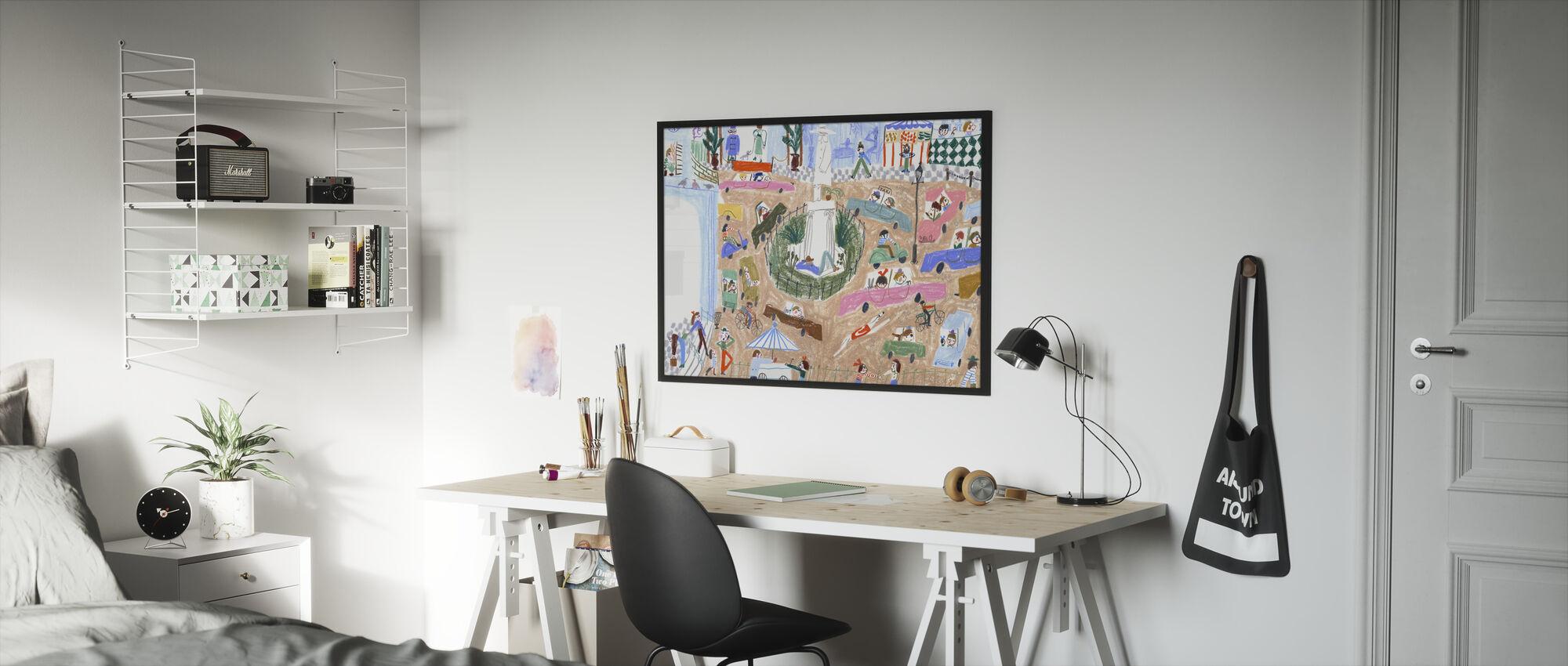 Rosie Runs II - Framed print - Kids Room