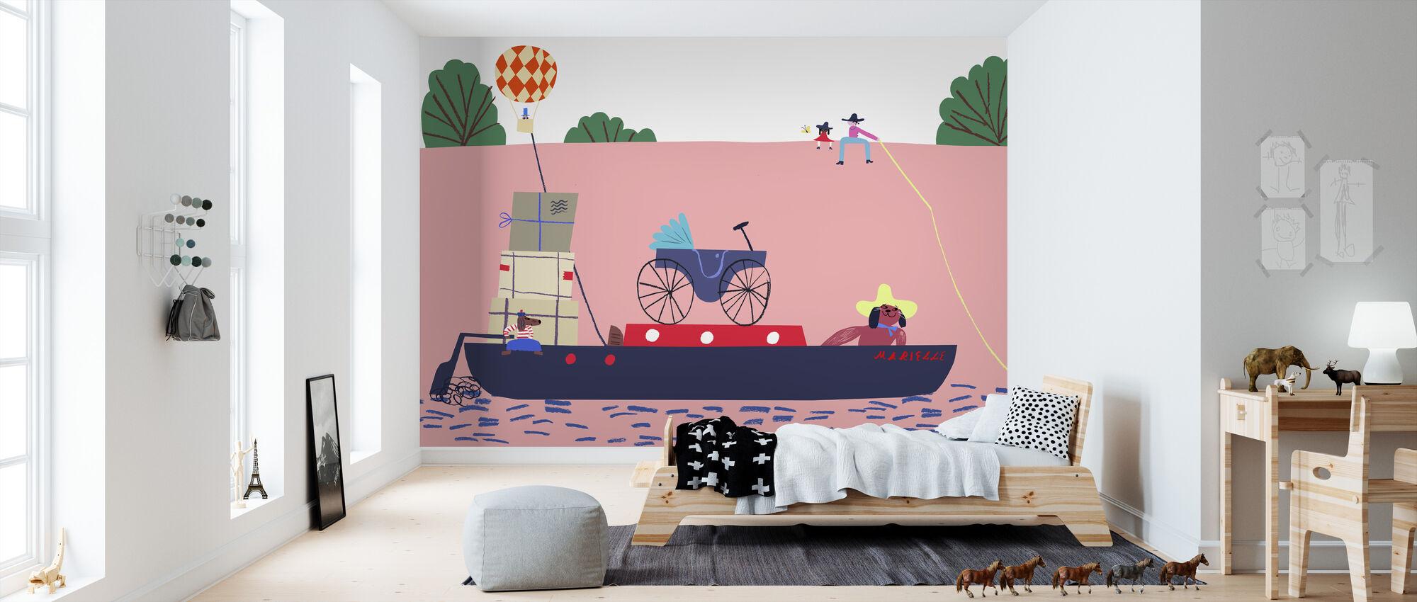 Vene ja ilmapallo - Tapetti - Lastenhuone