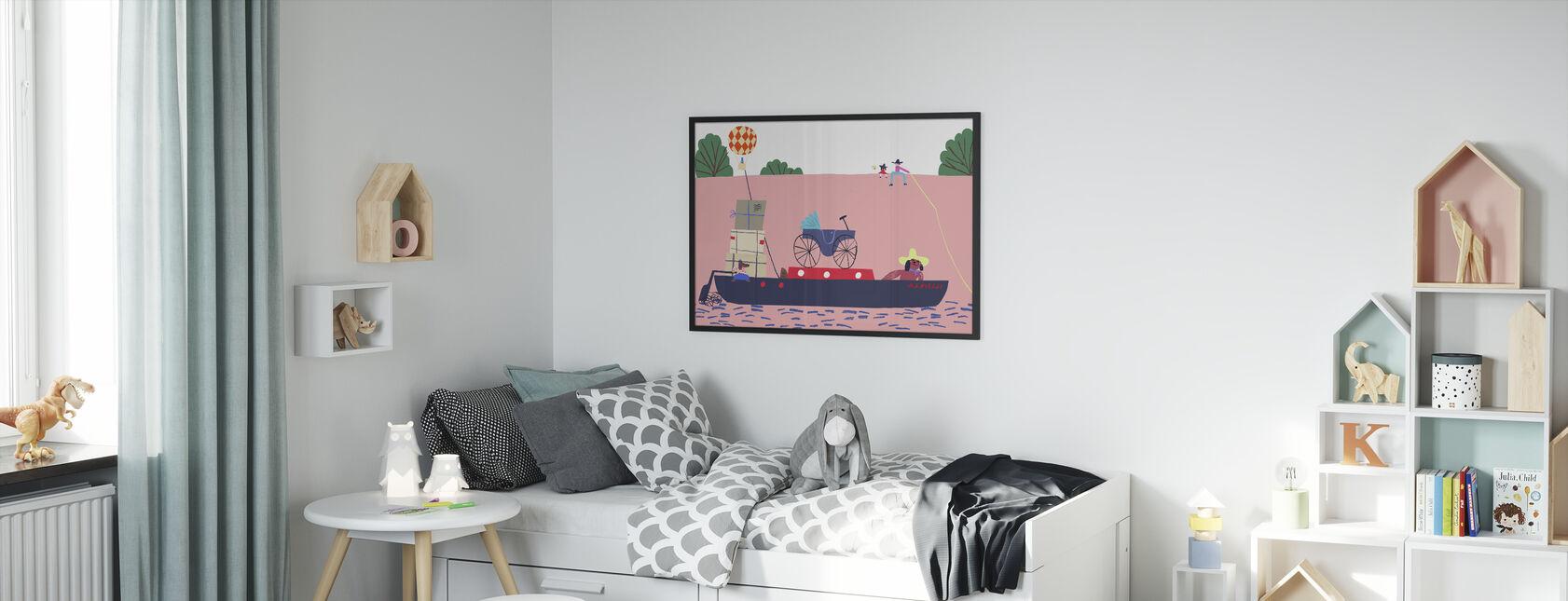 Boot und Ballon - Gerahmtes bild - Kinderzimmer
