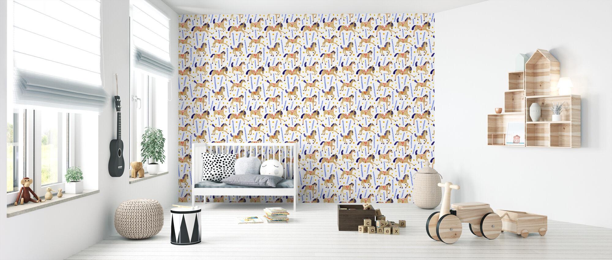 Carousel - Wallpaper - Nursery