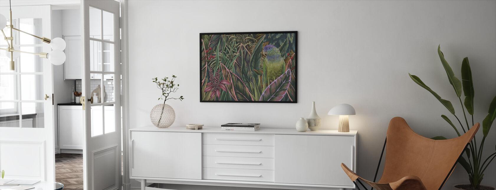 Iso papukaija - Kehystetty kuva - Olohuone