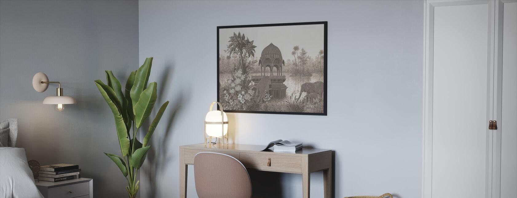 Tropical Habitat - Framed print - Bedroom