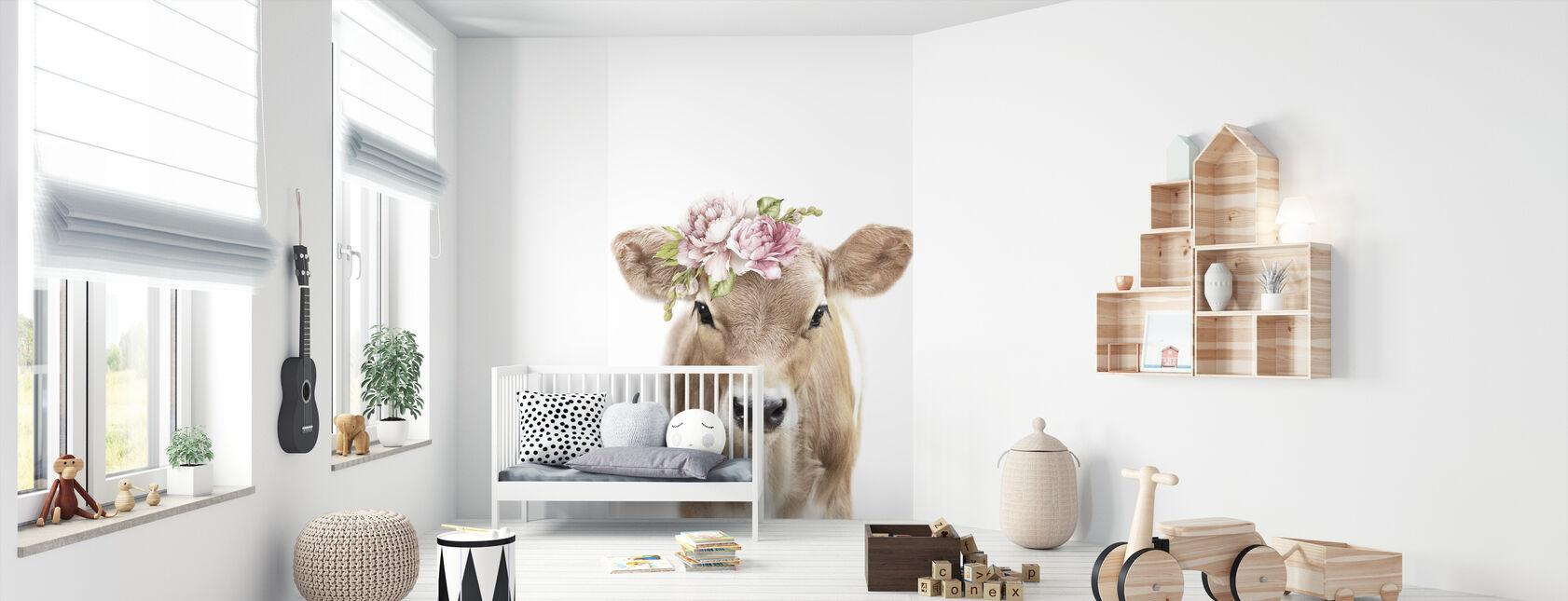 Kukkavasikka - Tapetti - Vauvan huone