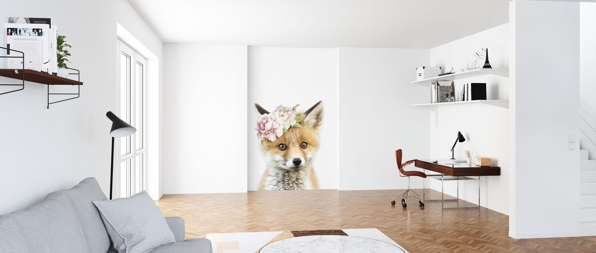 Blomster Fox - Tapet - Kontor