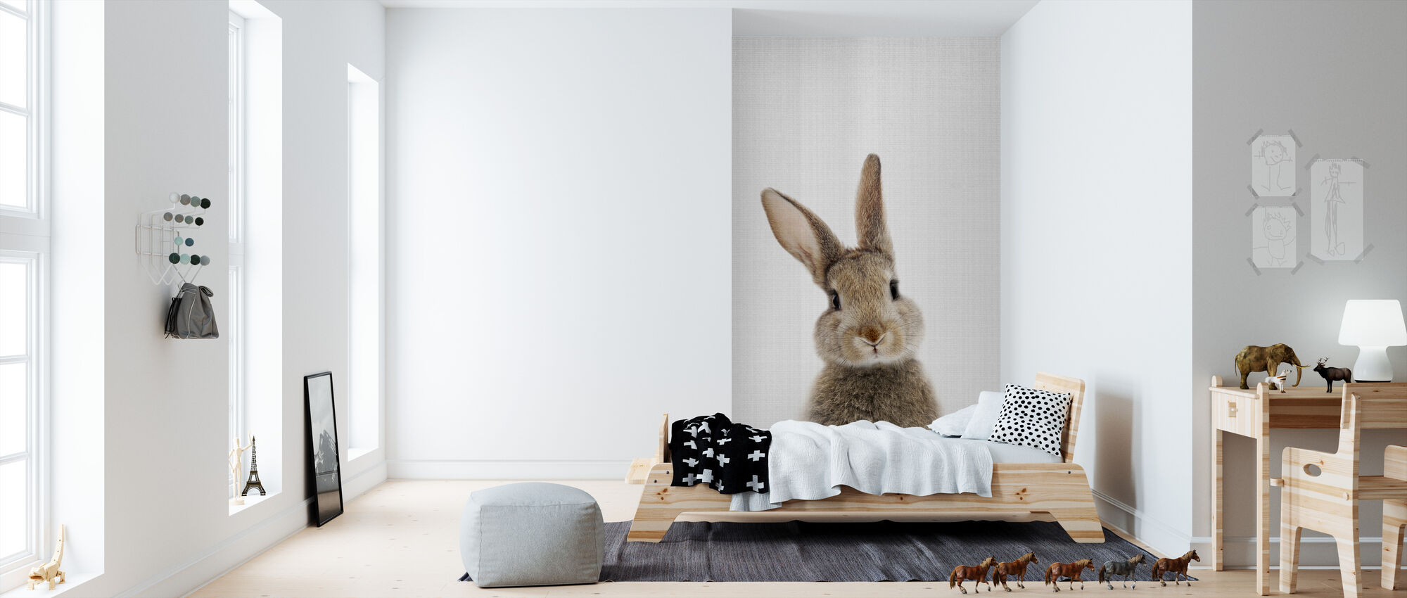 Bunny Rabbit - Wallpaper - Kids Room