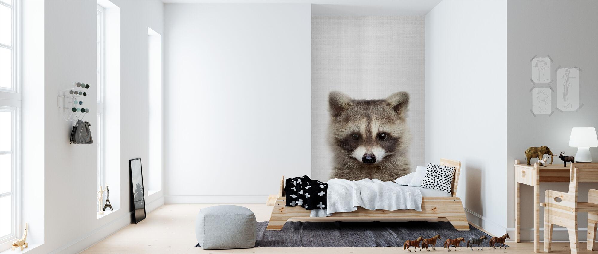 Wasbeer - Behang - Kinderkamer