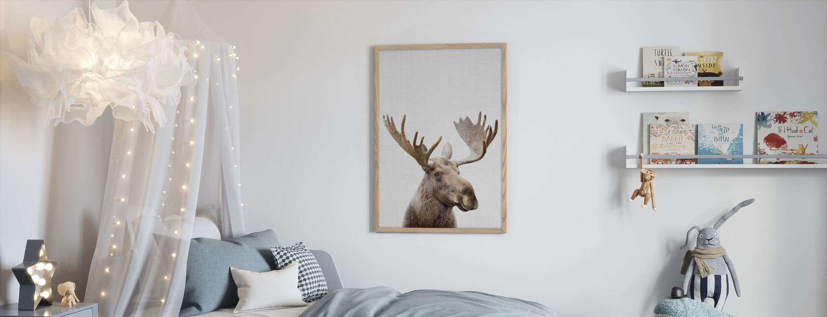 Moose - Framed print - Kids Room