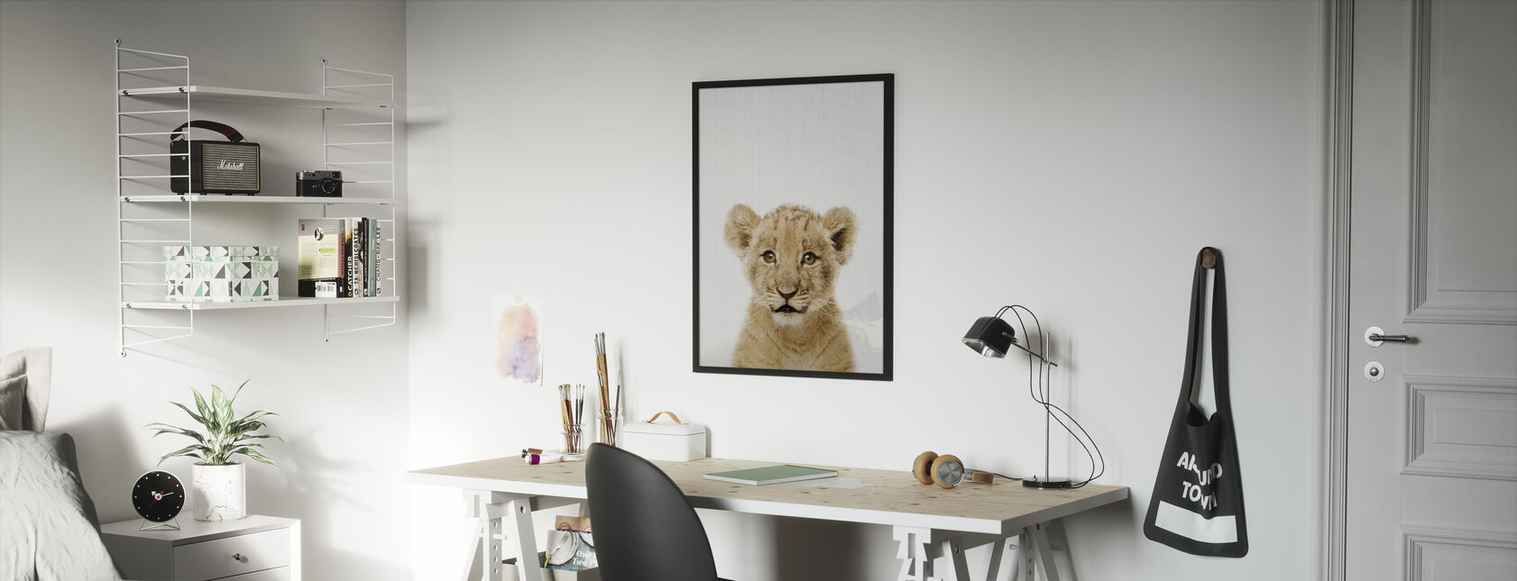 Baby Lion - Framed print - Kids Room