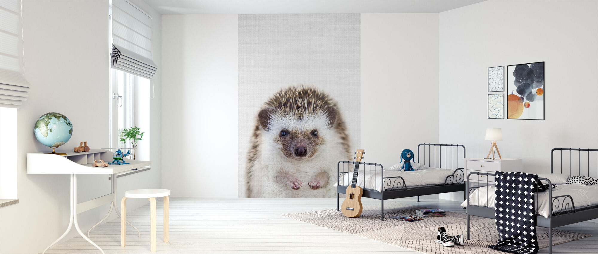 Hedgehog - Wallpaper - Kids Room