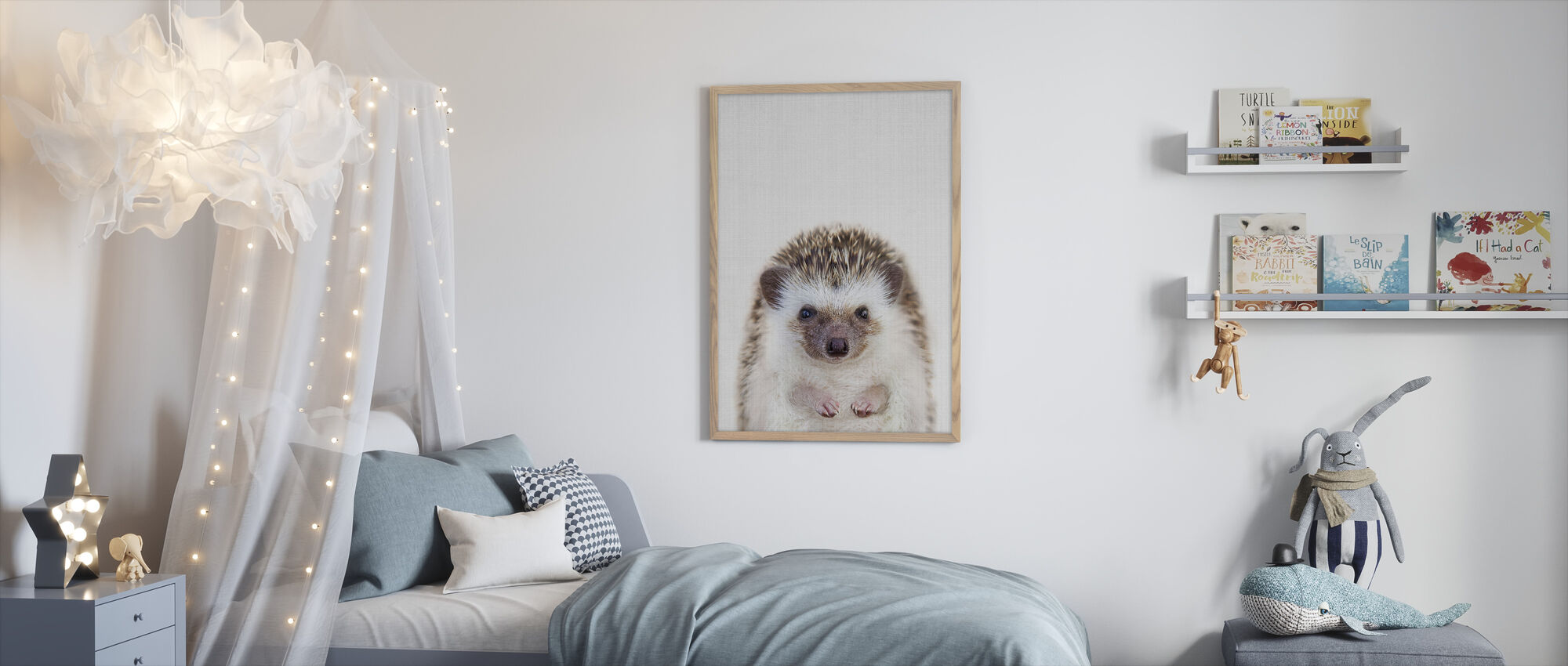 Hedgehog - Framed print - Kids Room