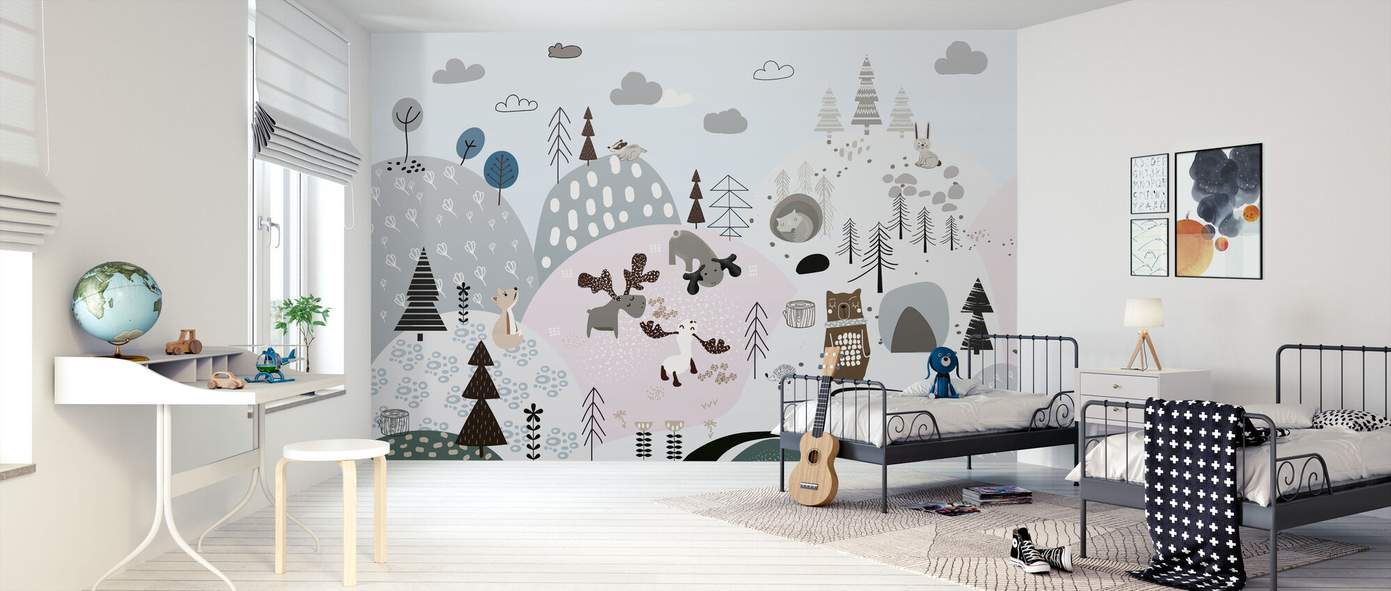 Friendly Forest Hills - Wallpaper - Kids Room