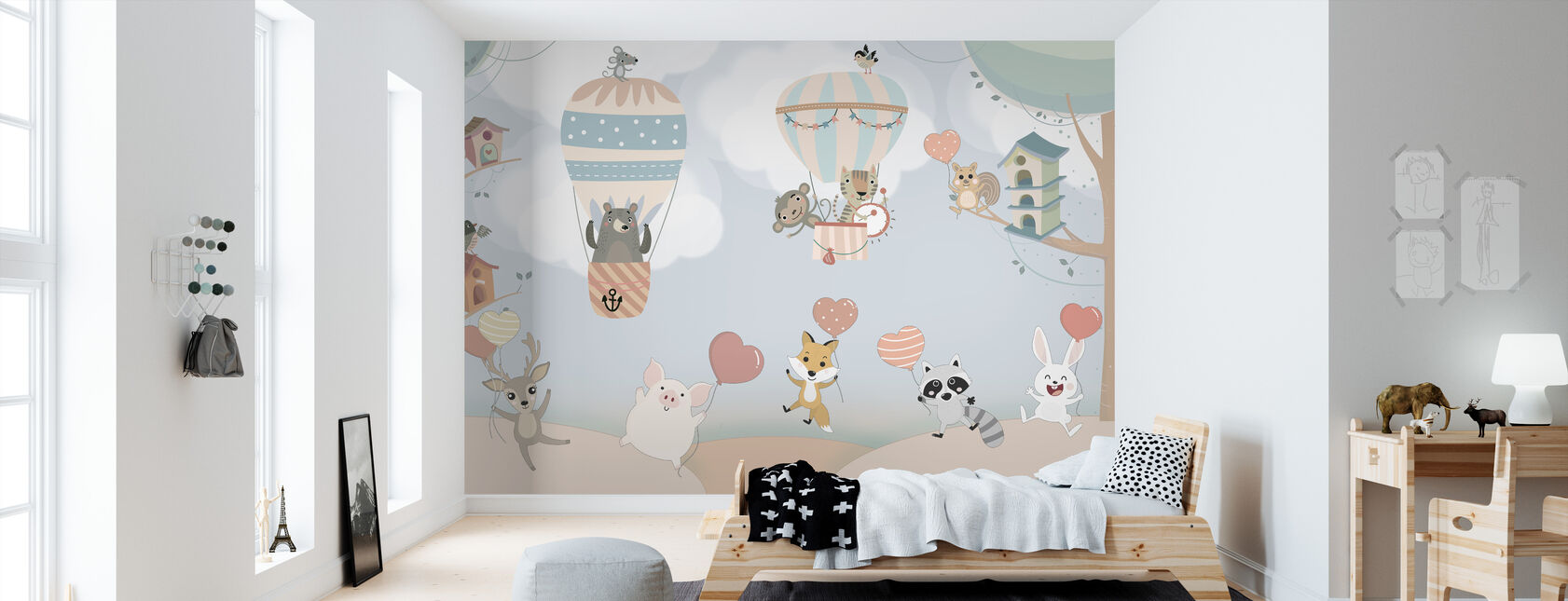 Happy Animal Buddies - Wallpaper - Kids Room