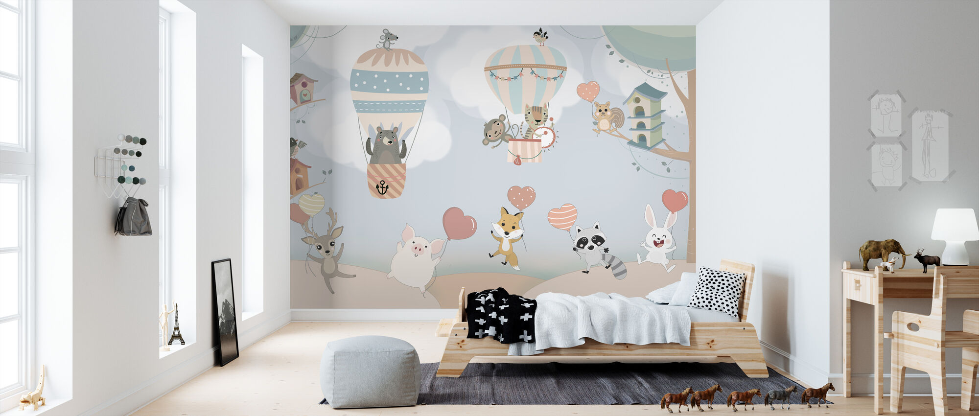 Happy Animal Buddies - Wallpaper - Kids Room