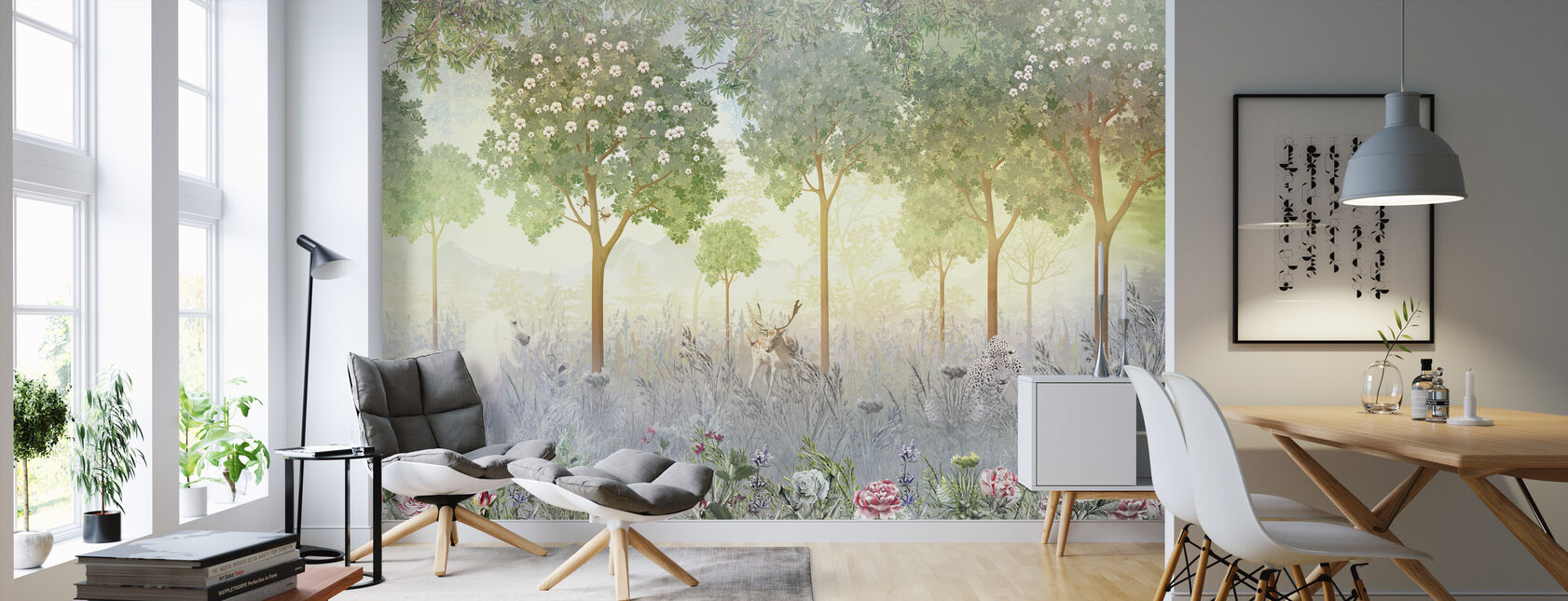 Into the Magic Forest - Wallpaper - Living Room