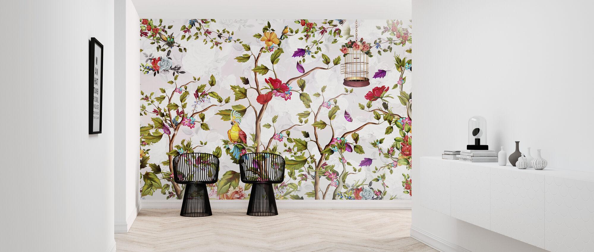 Vivid Bird Paradise - Wallpaper - Hallway