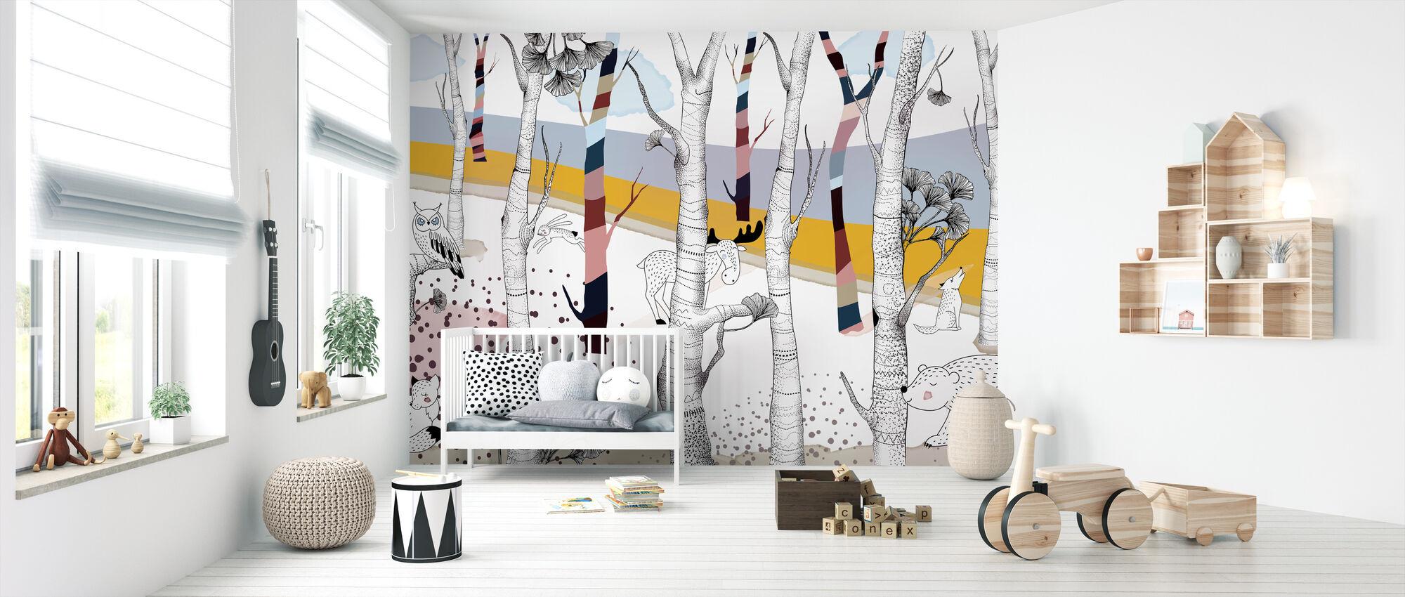Woodland - Wallpaper - Nursery