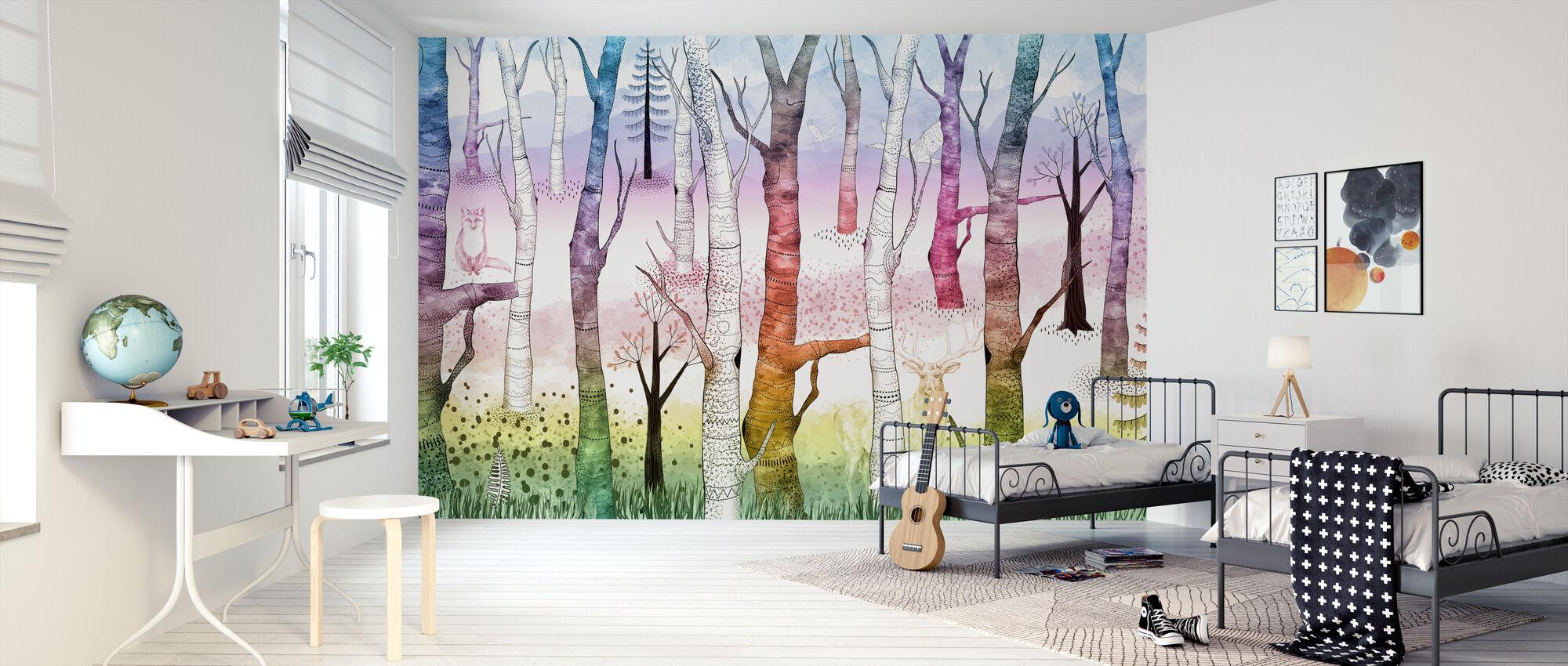 Woodland Walz - Elävä - Tapetti - Lastenhuone
