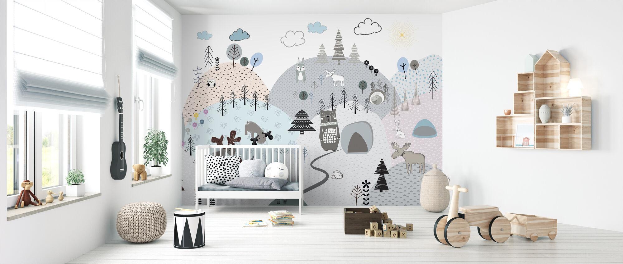 Animal Community II - Wallpaper - Nursery