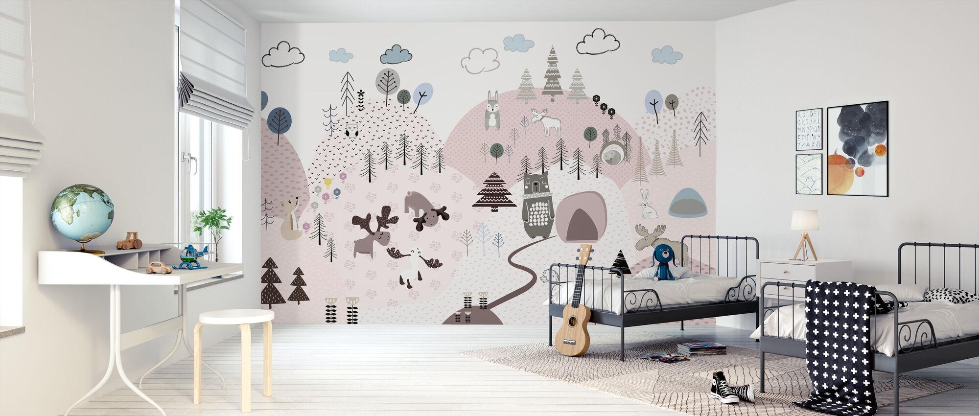 Animal Community III - Wallpaper - Kids Room