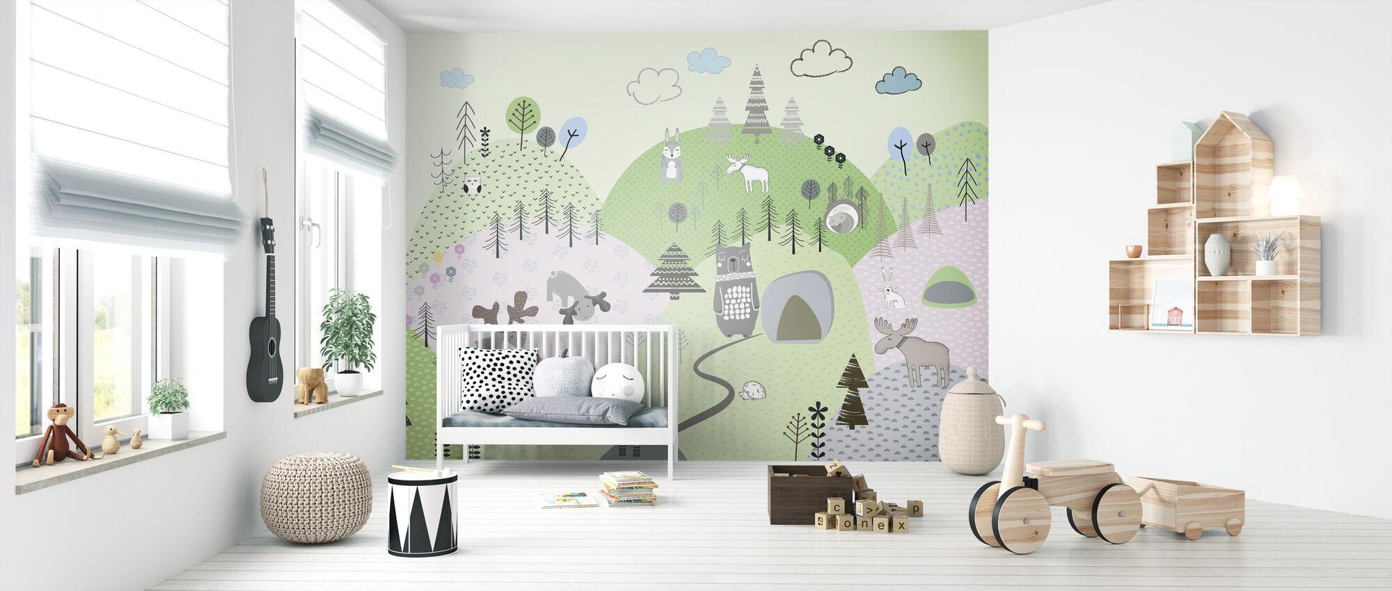 Animal Community IIII - Wallpaper - Nursery
