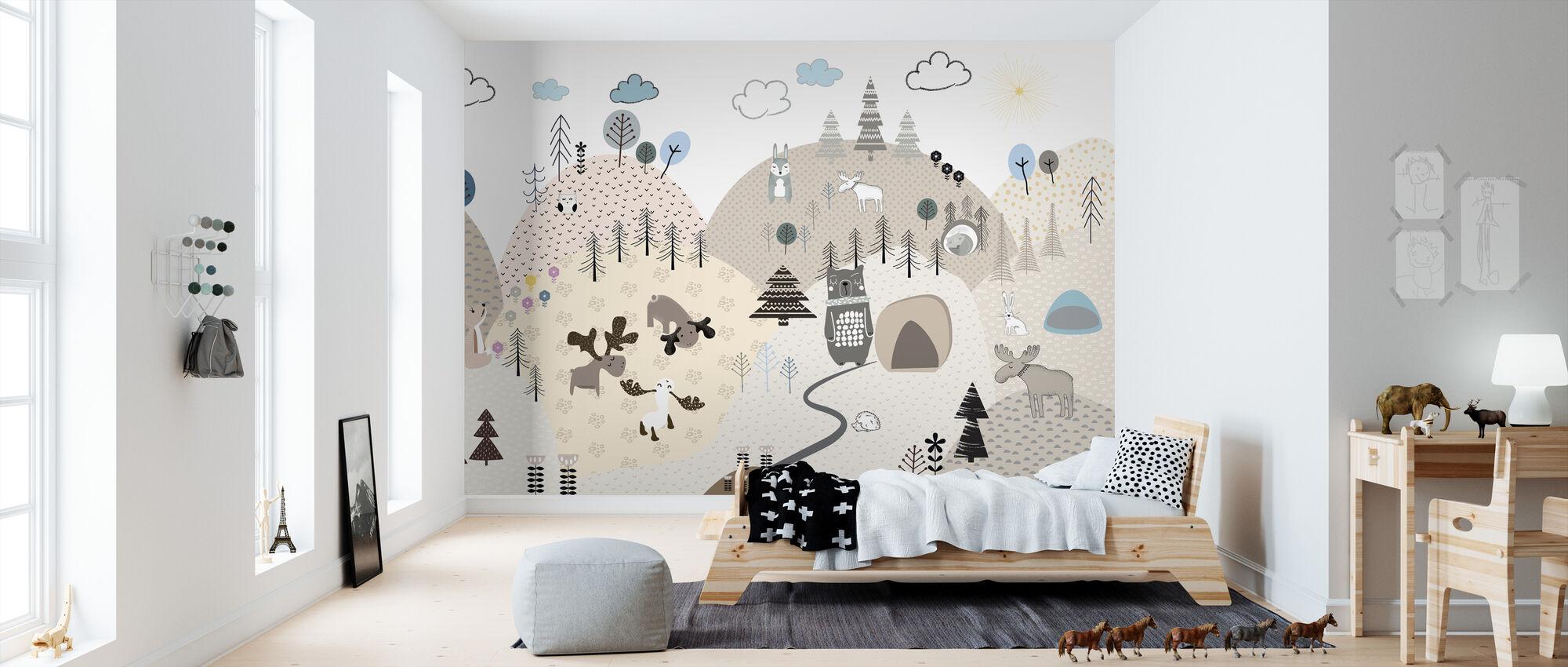 Animal Community V - Wallpaper - Kids Room