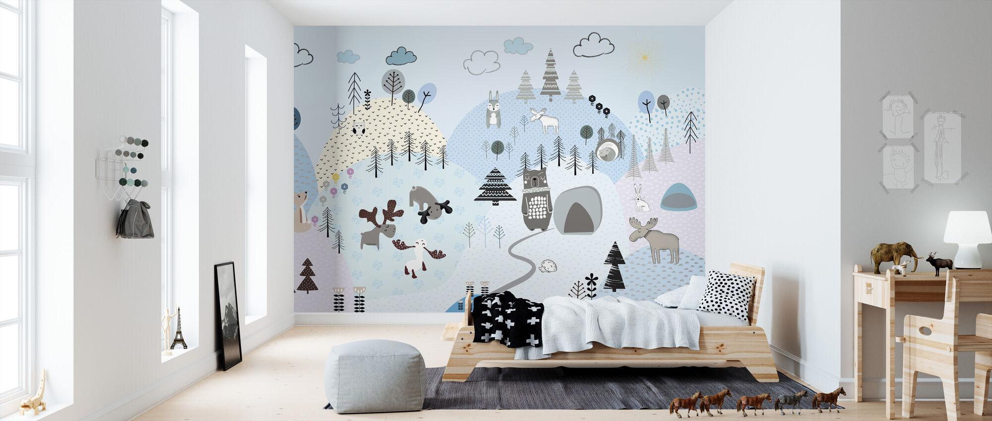 Animal Community VII - Wallpaper - Kids Room