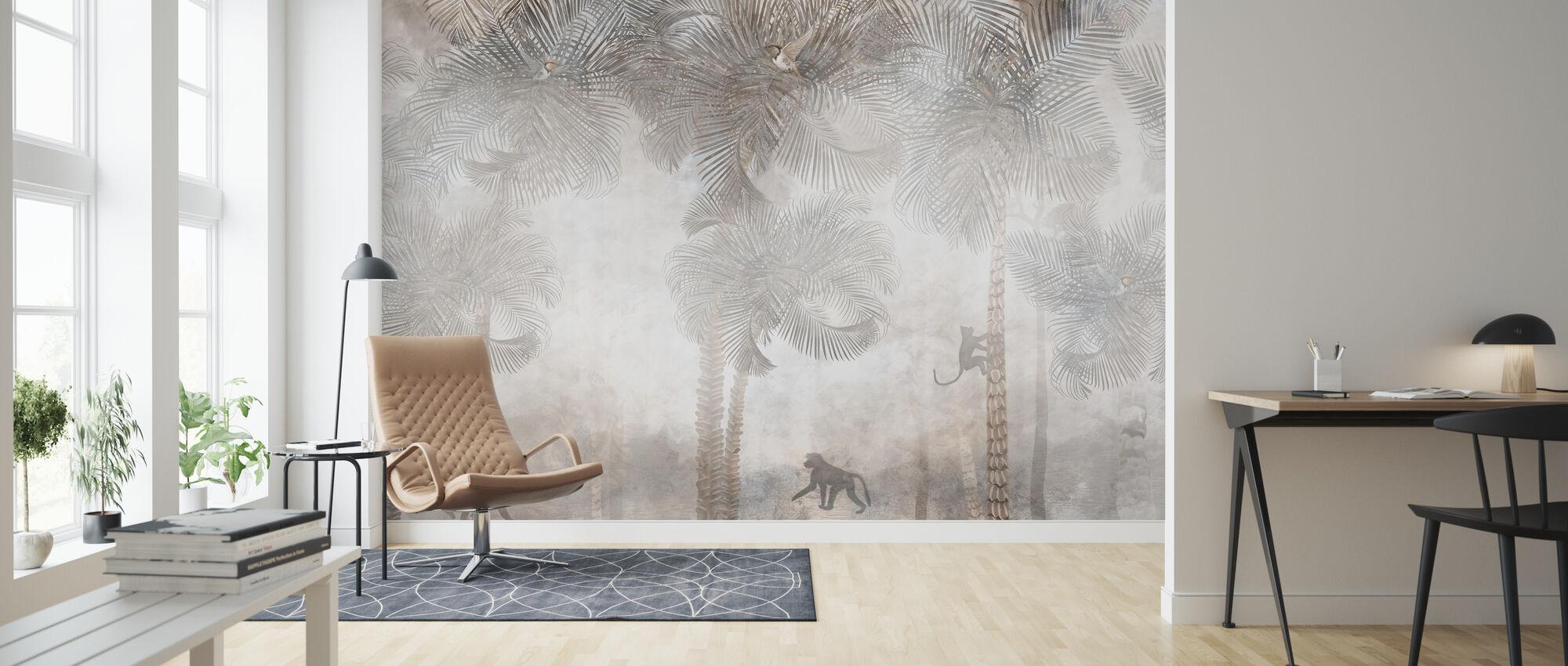 Monkeys Residence IIII - Wallpaper - Living Room