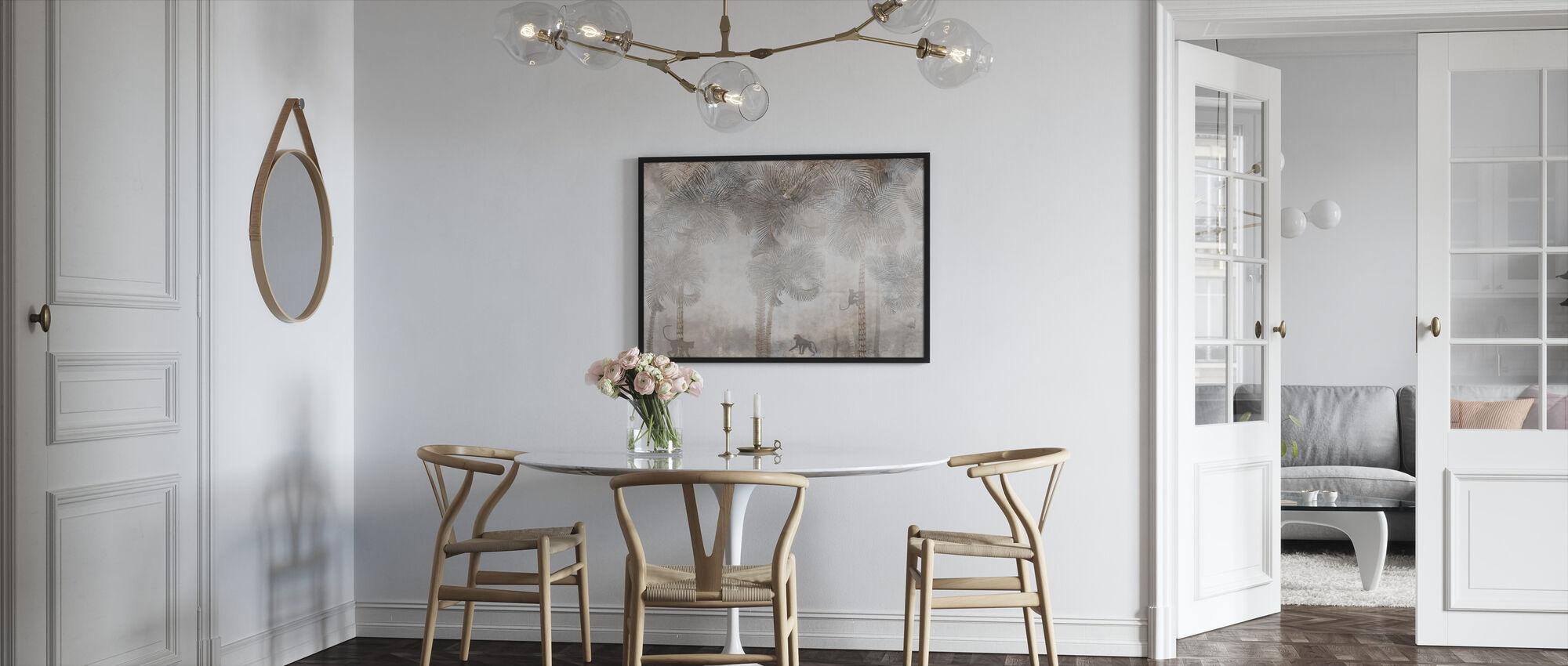 Monkeys Residence IIII - Framed print - Kitchen
