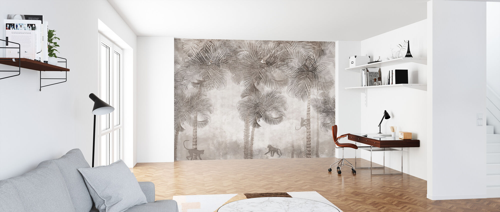 Monkeys Residence VI - Wallpaper - Office