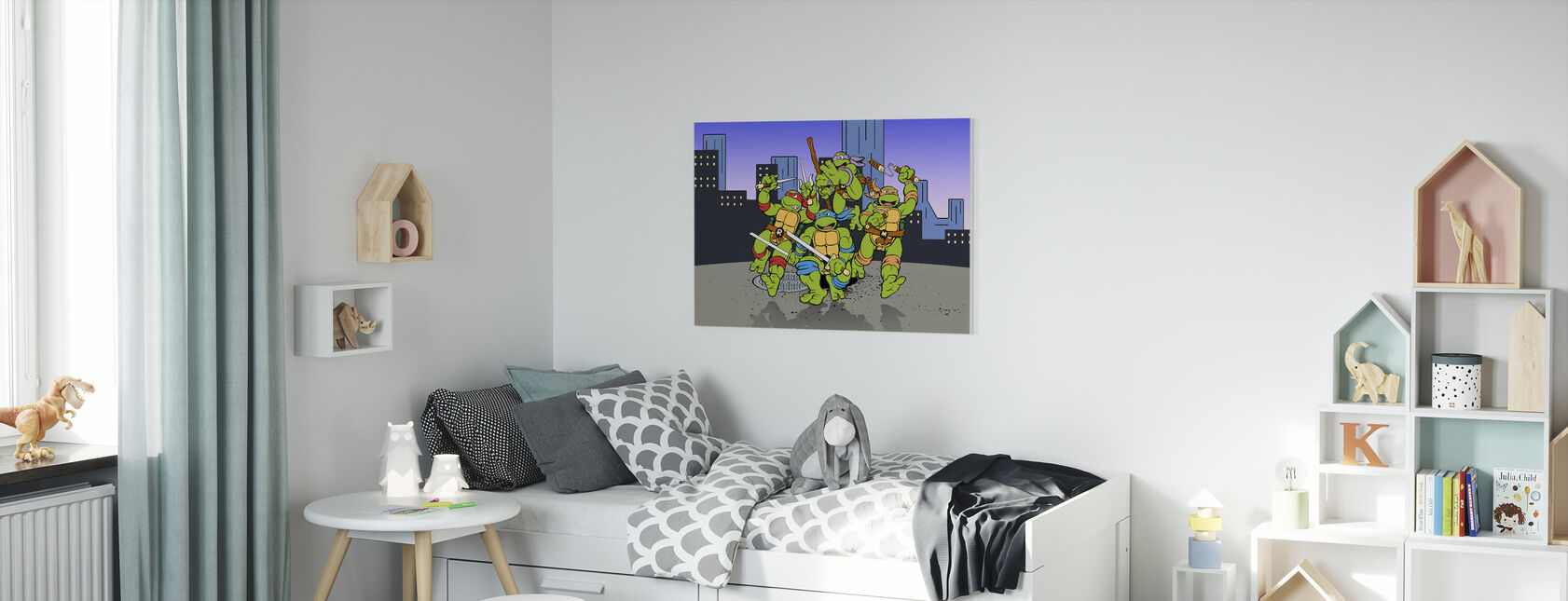Defenders of the City - Canvas print - Kids Room
