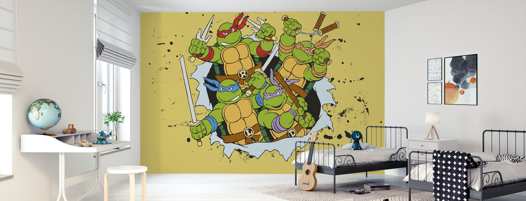 Original Ninjas Yellow - Wallpaper - Kids Room