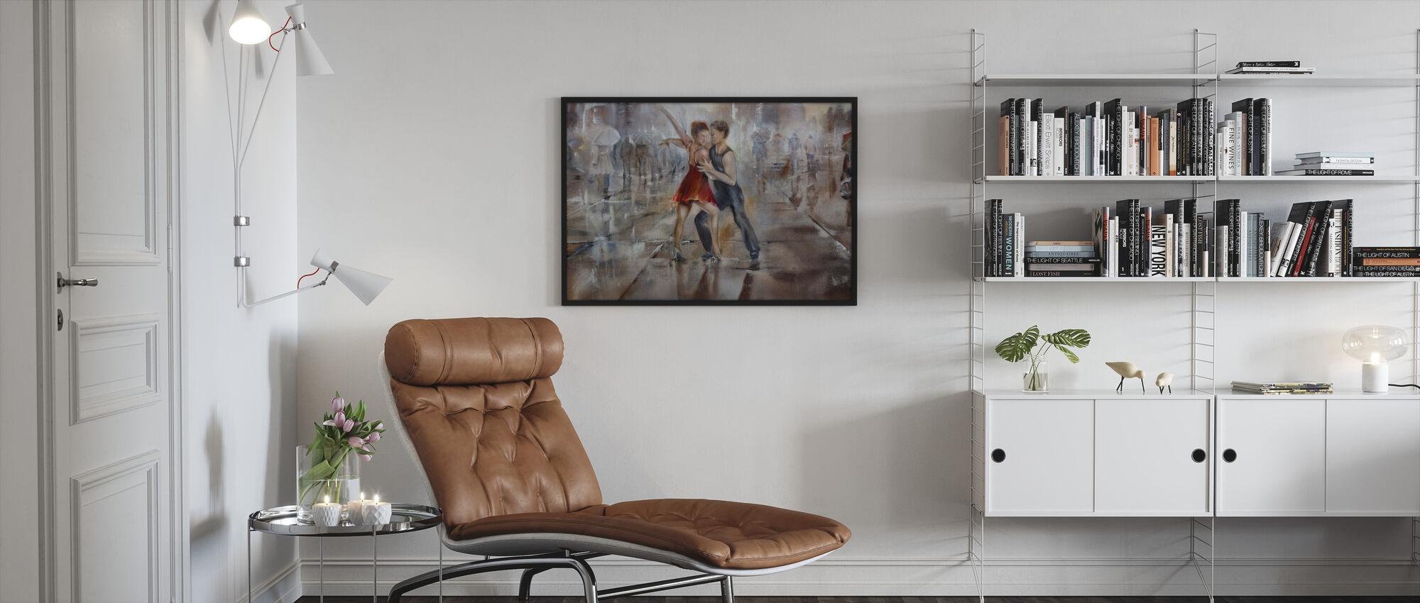 Raining Again - Framed print - Living Room