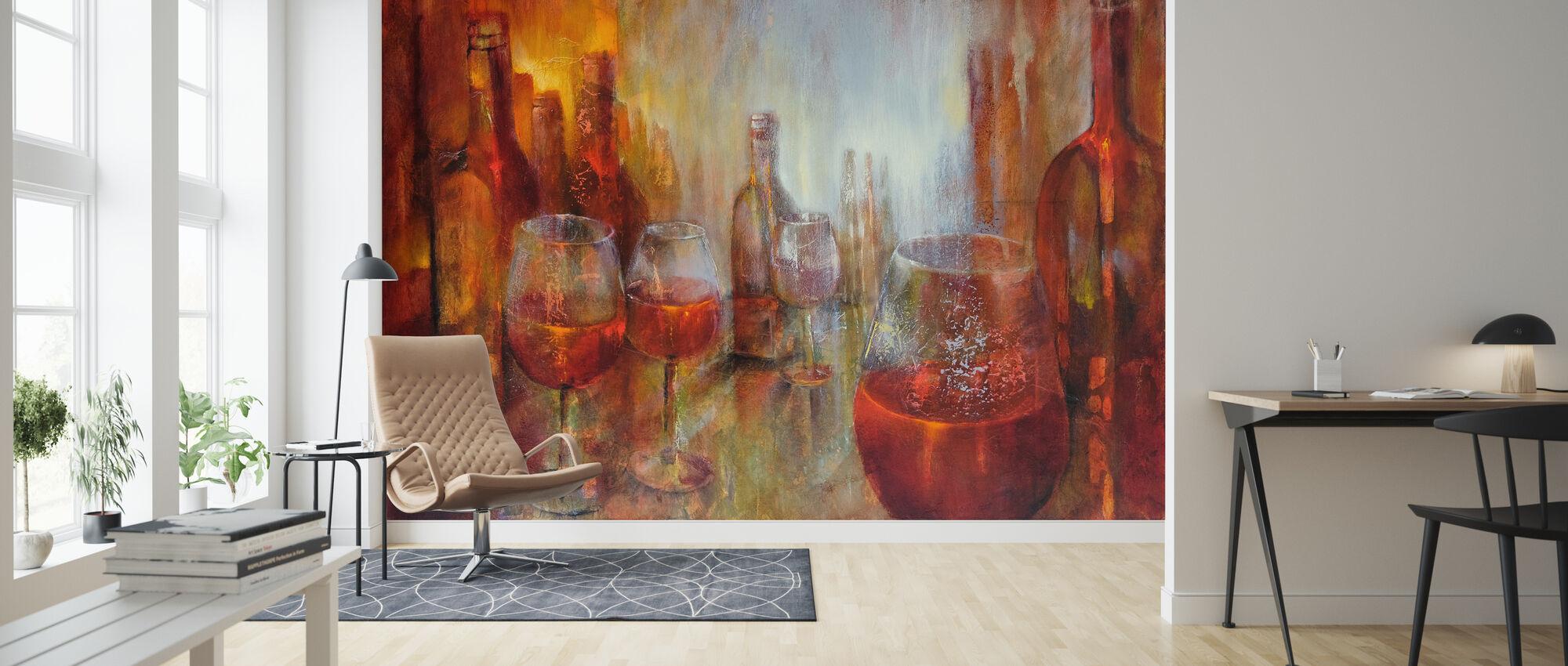 Later Burgundy - Wallpaper - Living Room