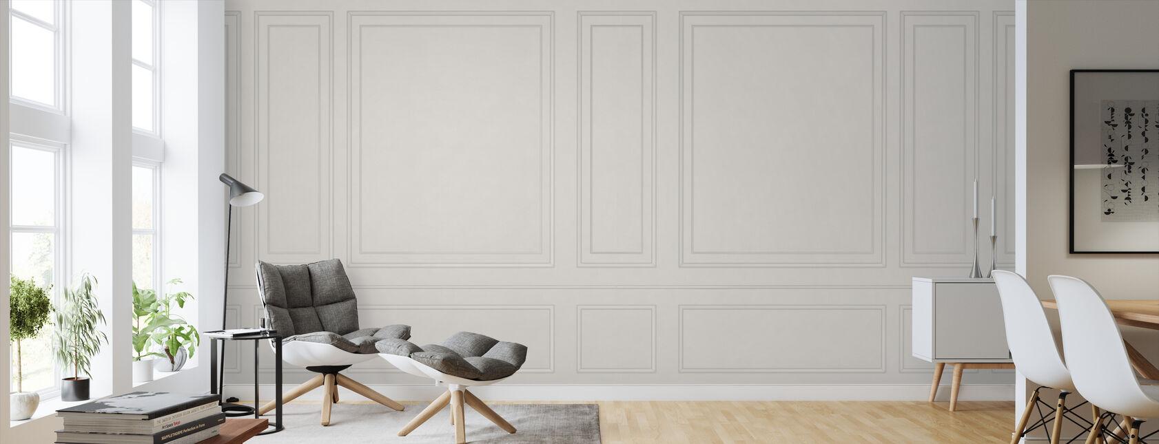 Voguish Wall Panel - Beige - Wallpaper - Living Room