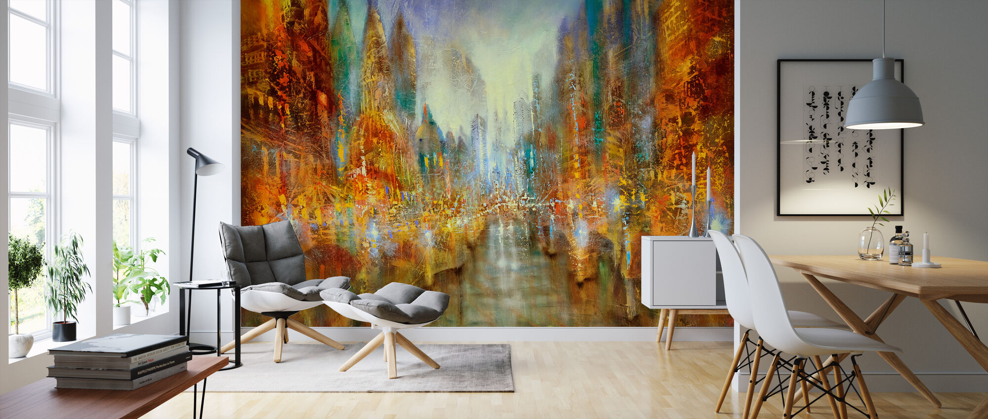 City of Lights - Wallpaper - Living Room