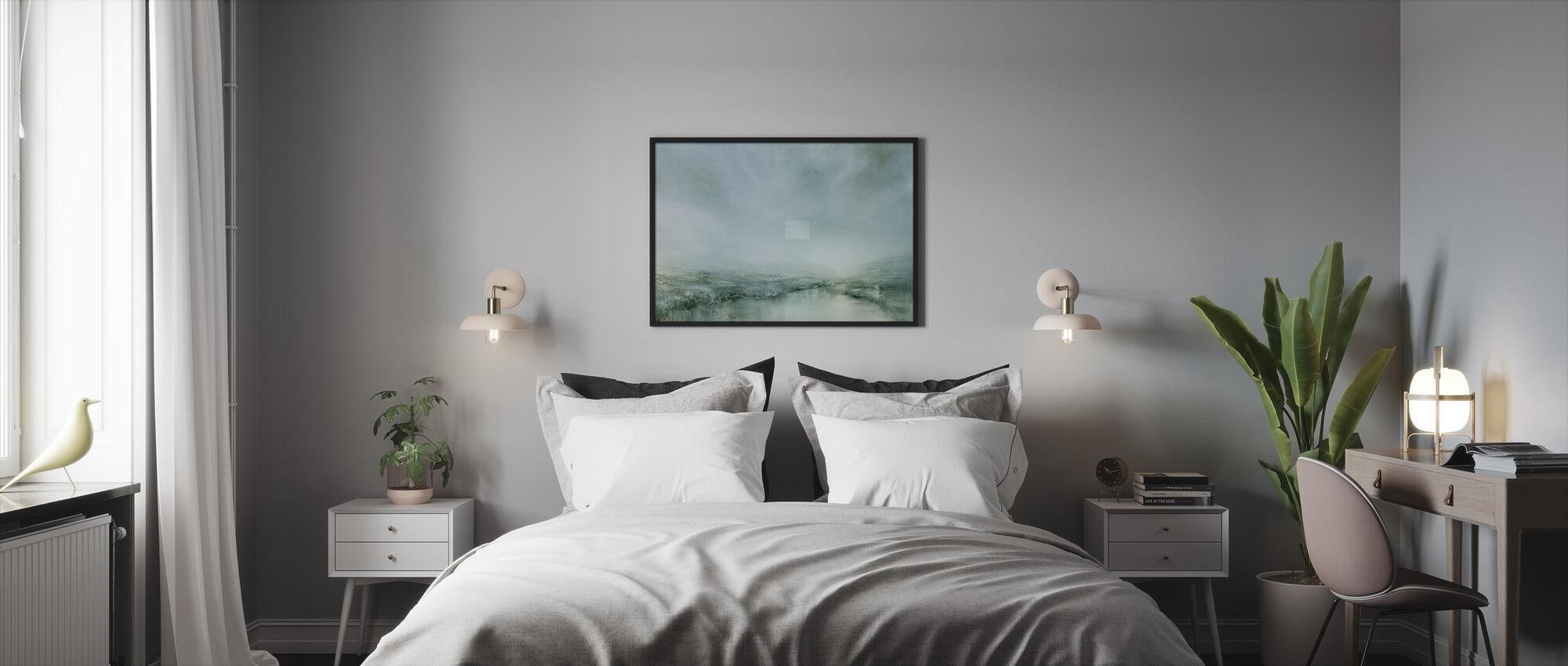 Aamukaste - Kehystetty kuva - Makuuhuone
