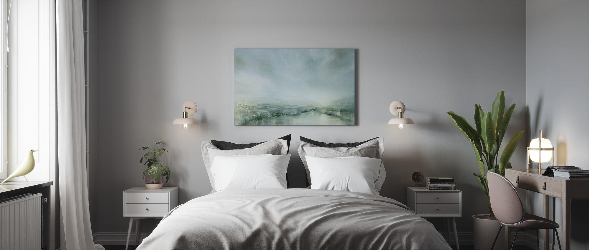 Aamukaste - Canvastaulu - Makuuhuone