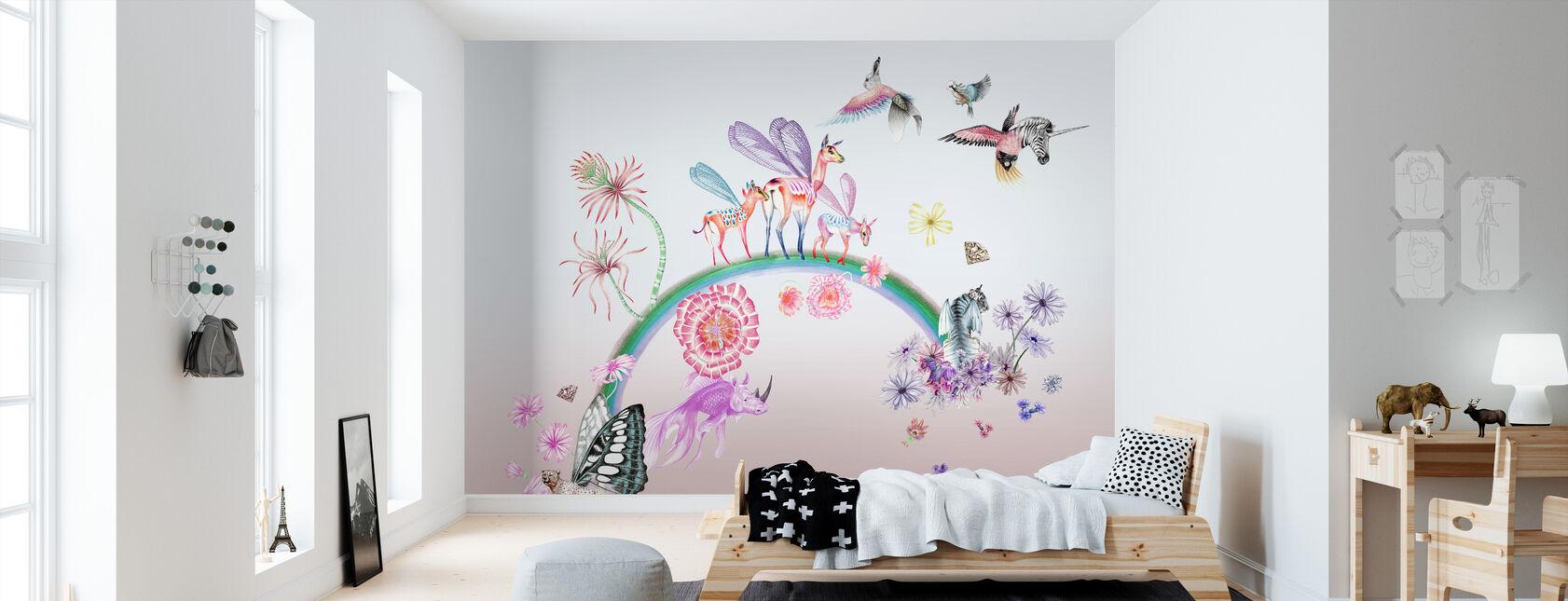 Fables-Ombre - Papier peint - Chambre des enfants