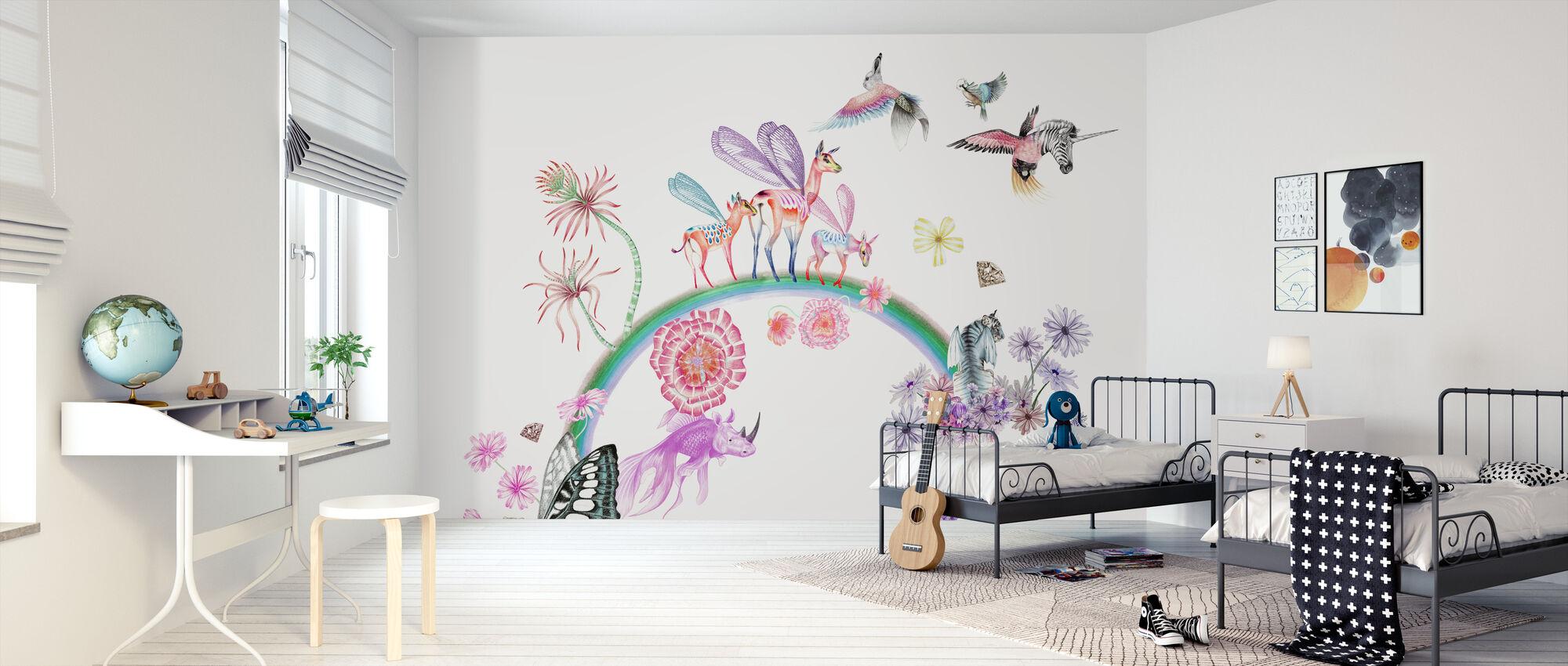 Fables-White - Wallpaper - Kids Room