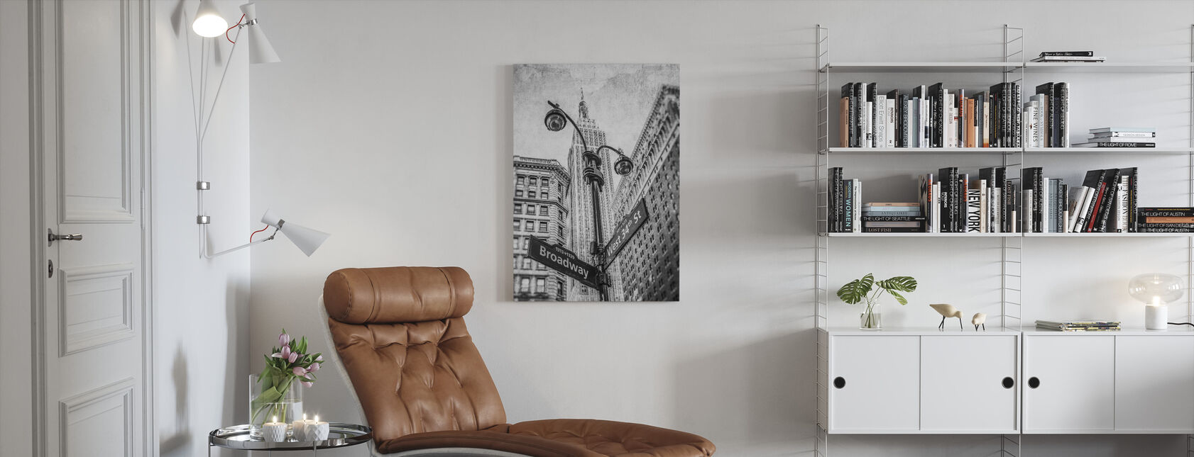 New York Signs - BW - Canvas print - Living Room