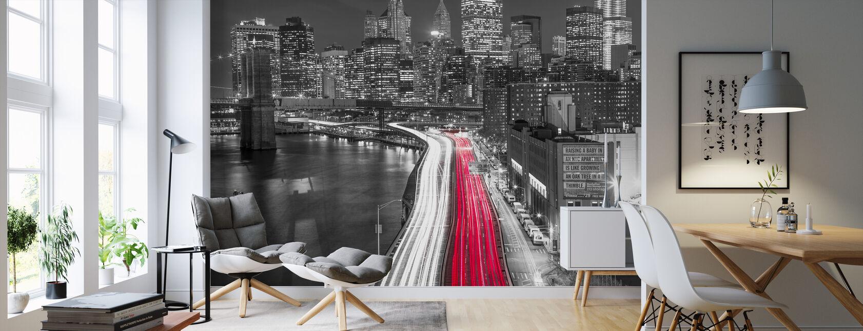 New York City Movement - Bw - Wallpaper - Living Room