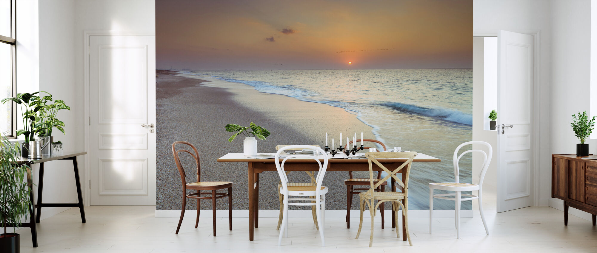 Sunset Shoreline - Behang - Keuken