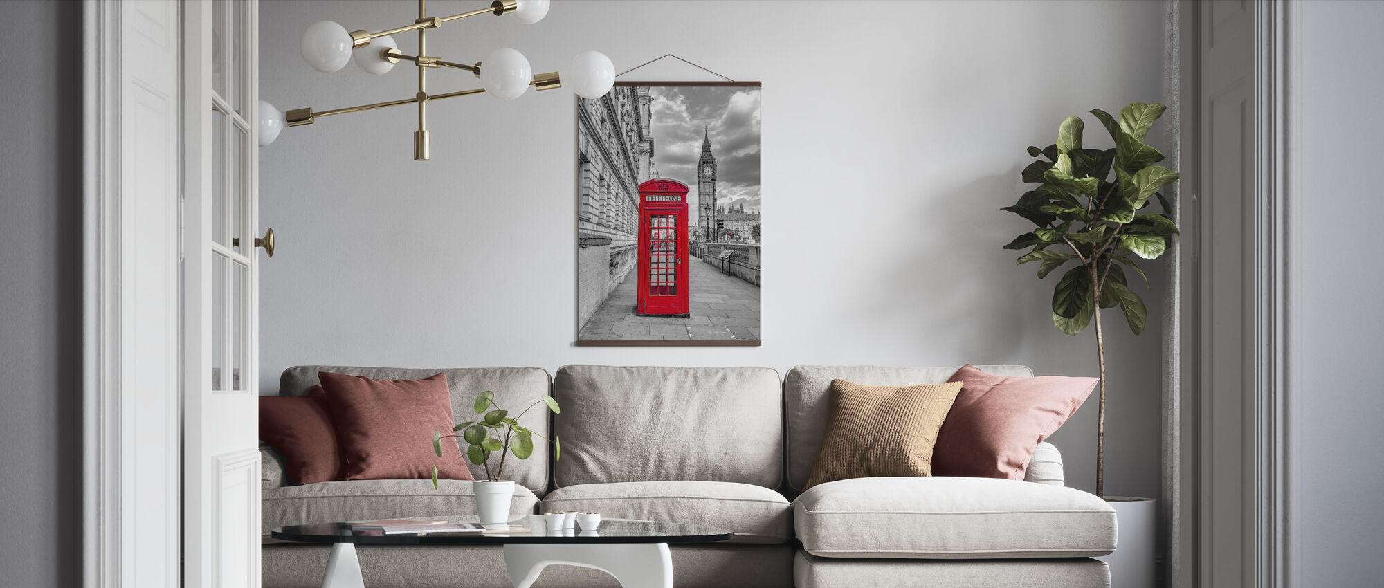 London Telefonkiosk - Plakat - Stue