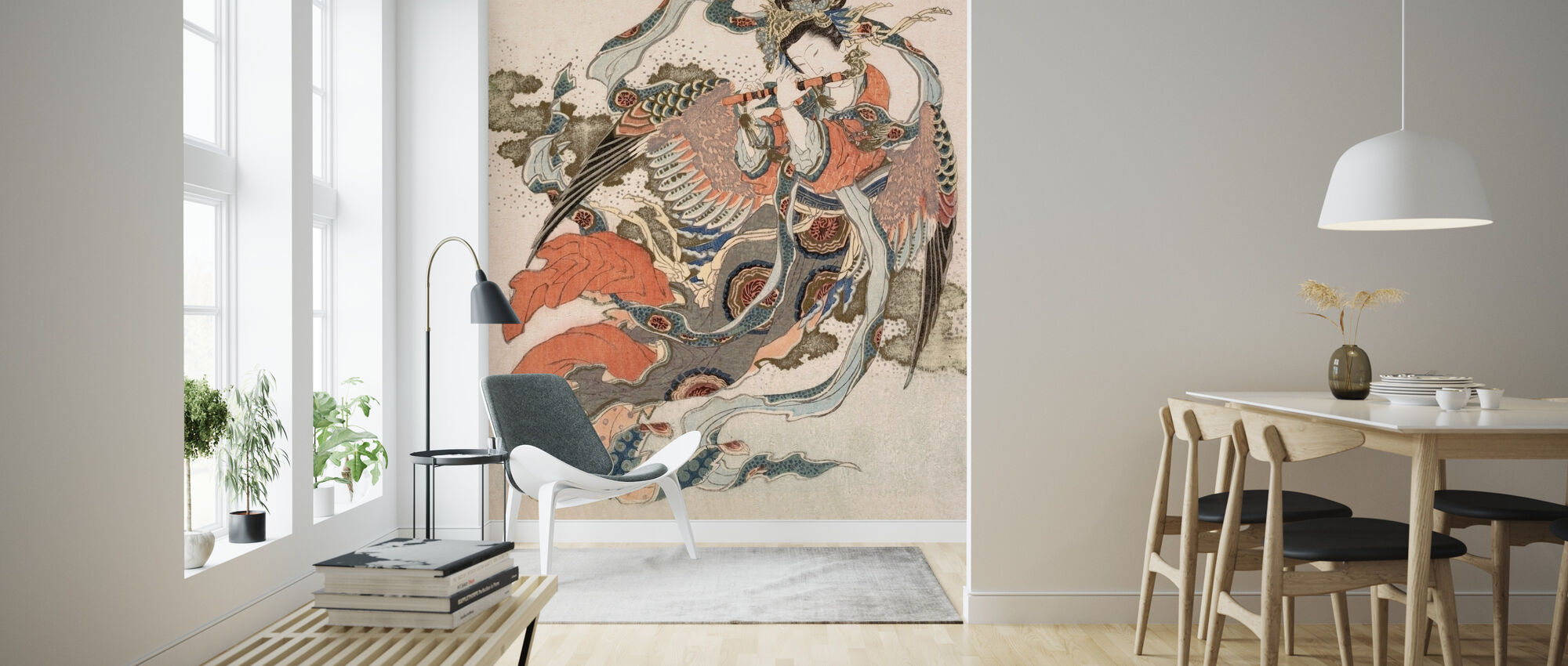 Asian Angel - Wallpaper - Living Room