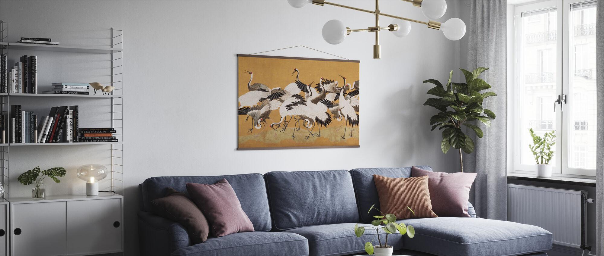 Crane Birds - Poster - Living Room