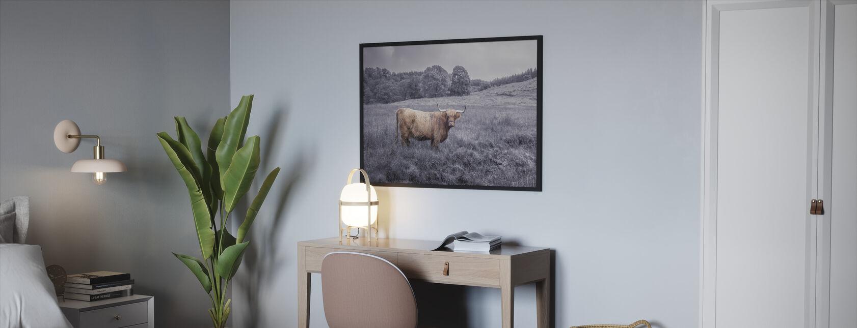 Patrząc góralska krowa - Obraz w ramie - Sypialnia