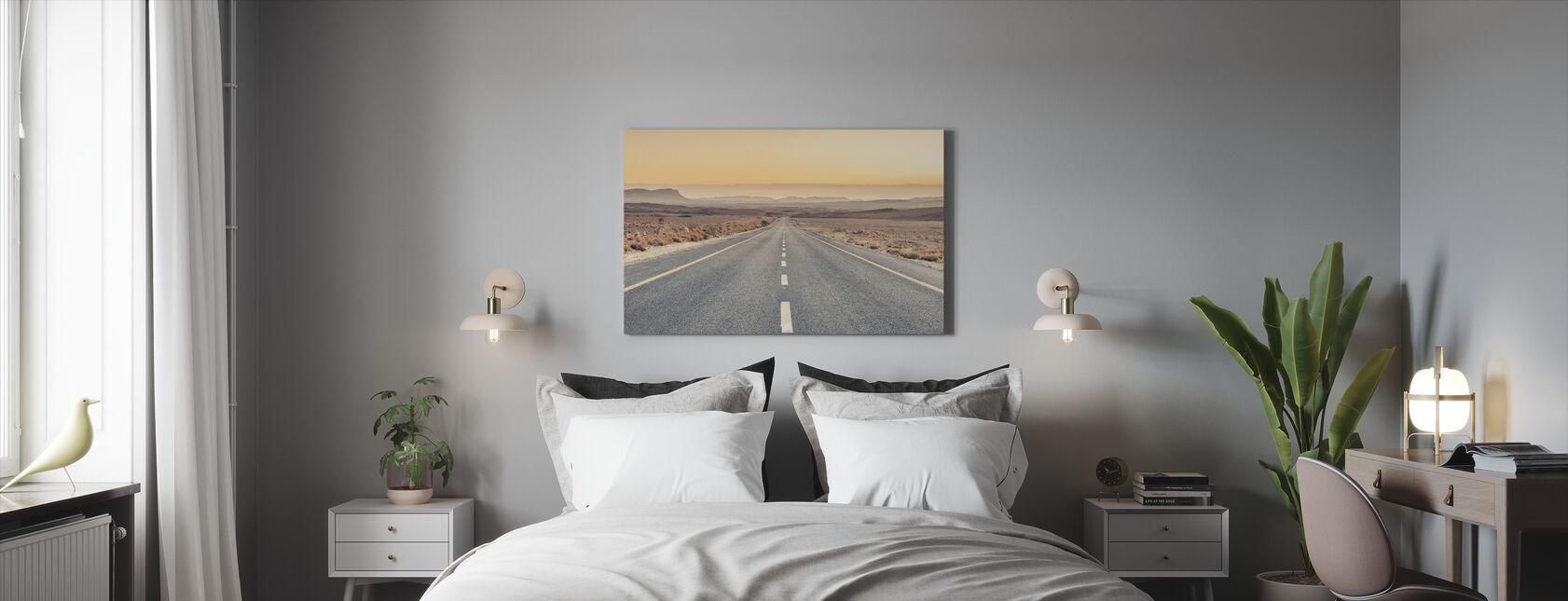 Wüstenstraße - Leinwandbild - Schlafzimmer